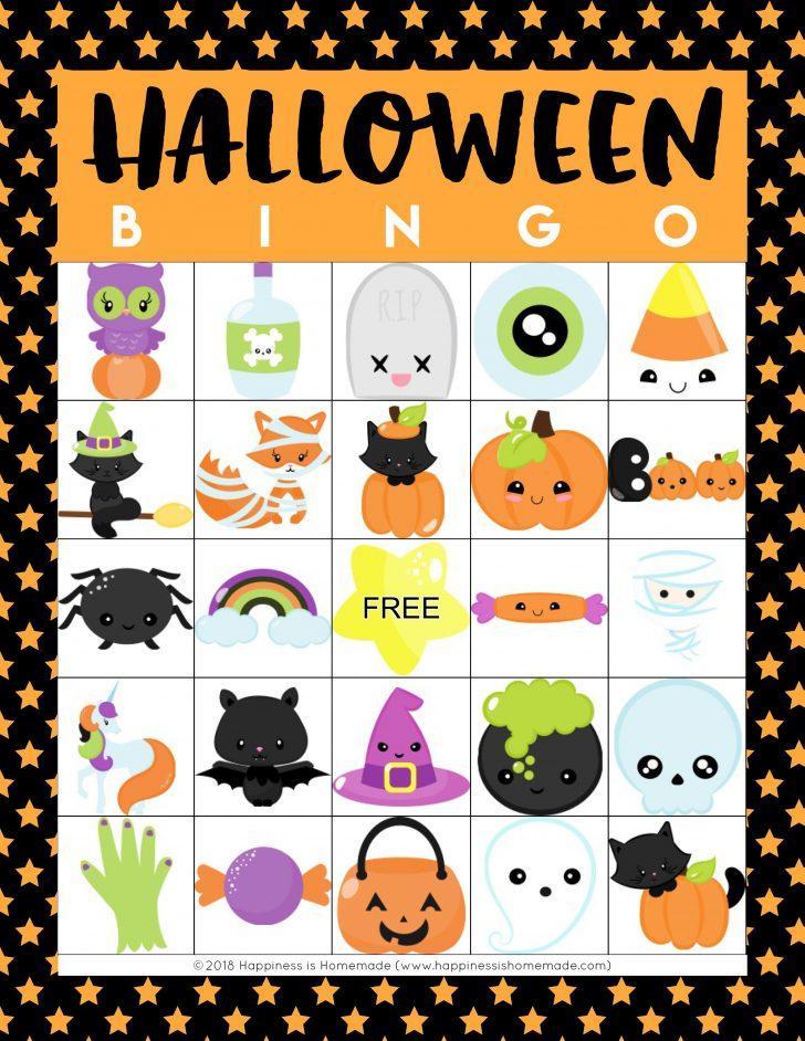 Printable Halloween Bingo Cards Free