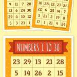 Numbers 1 To 30 Bingo | Bingo Cards, Bingo Printable