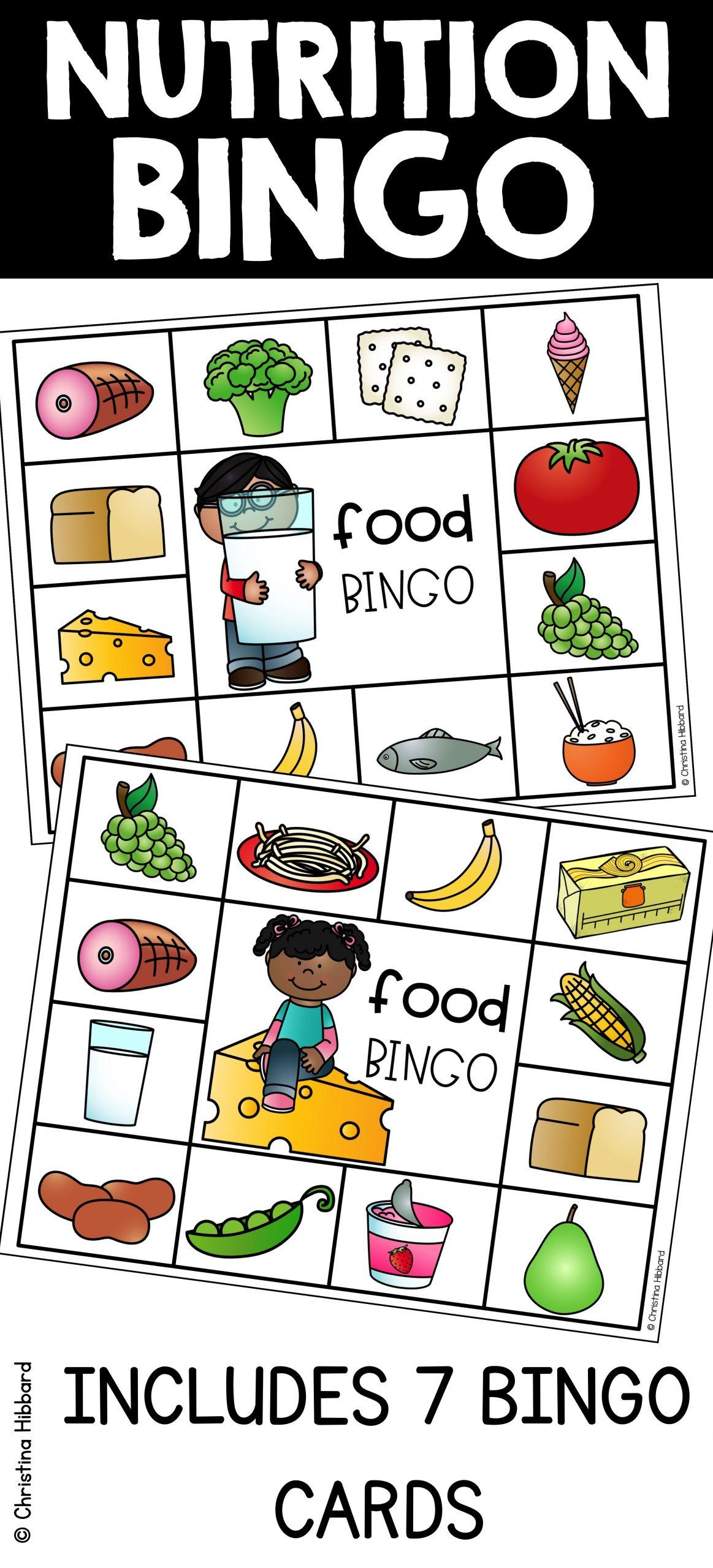 Nutrition Bingo   Nutrition Activities, Nutrition, Nutrition