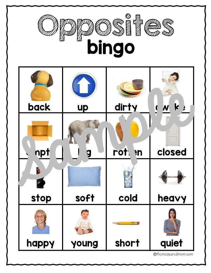 Opposite Activities Pack | Opposites Preschool, Activities