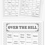 Over The Hill Bingo | Free Printable Bingo Cards, Bingo