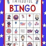 Patriotic 4Th Of July Bingo Game To Print | 4Th Of July