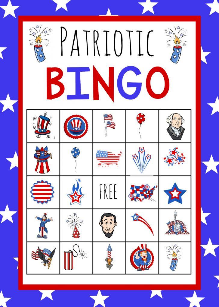 4th of July Bingo Cards Printable Free