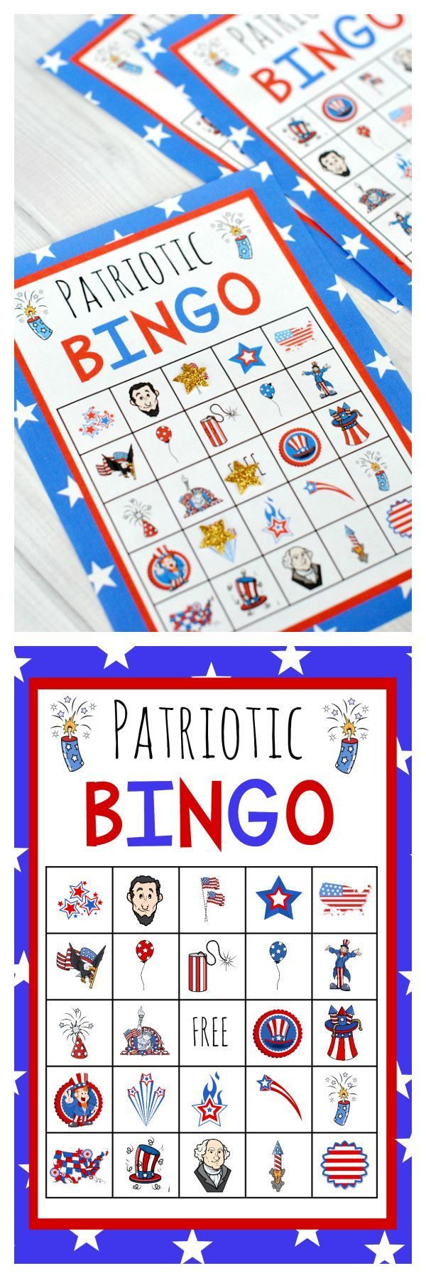 Patriotic 4Th Of July Bingo Game To Print | July Crafts, 4Th