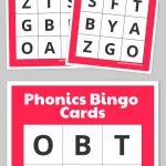 Phonics Bingo Cards | Bingo Cards Printable, Free Printable