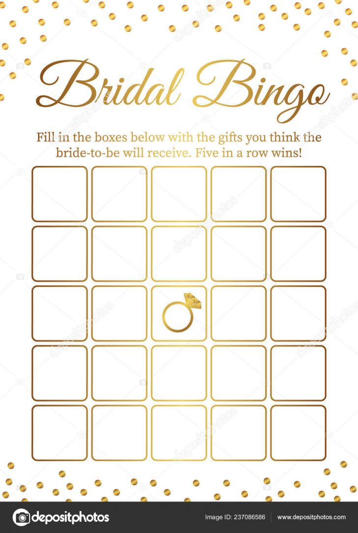 Printable Bridal Bingo Cards
