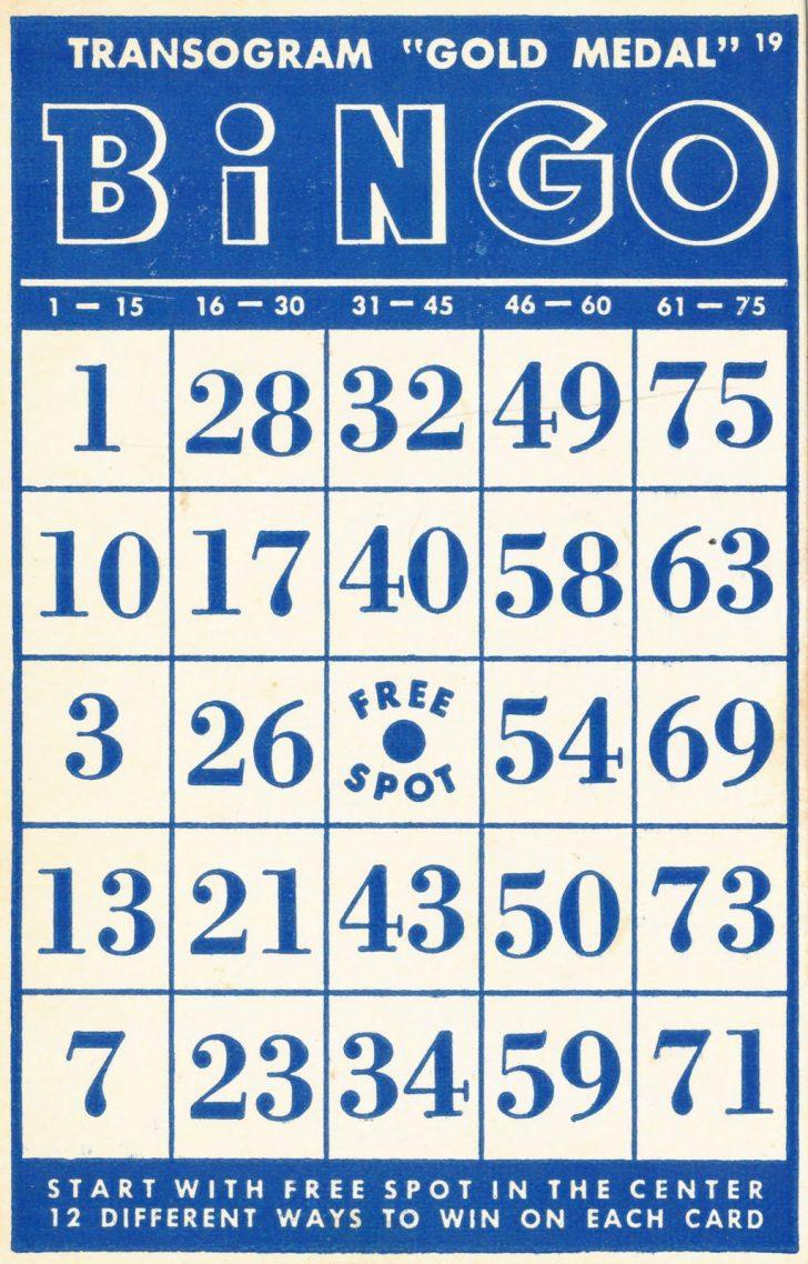 90 Ball Bingo Cards Printable