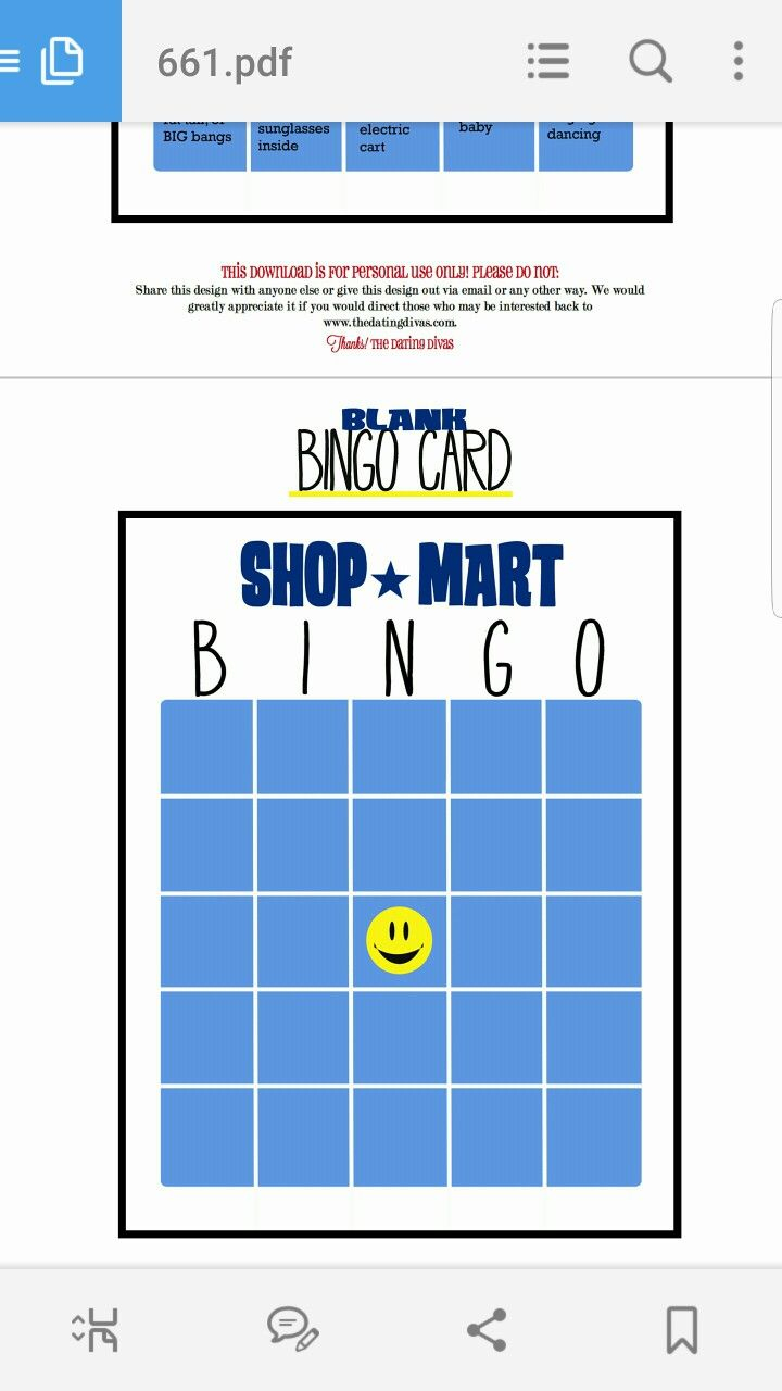 Pinchris Adams On Walmart Bingo | Blank Bingo Cards