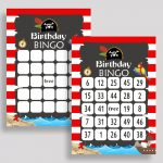 Pirate Bingo Cards Pirate Bingo Game Pirate Birthday Bingo