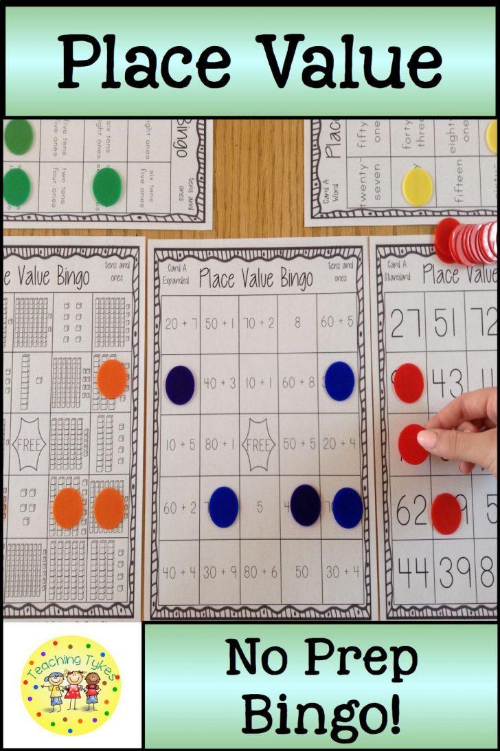 Place Value Bingo Cards Printable