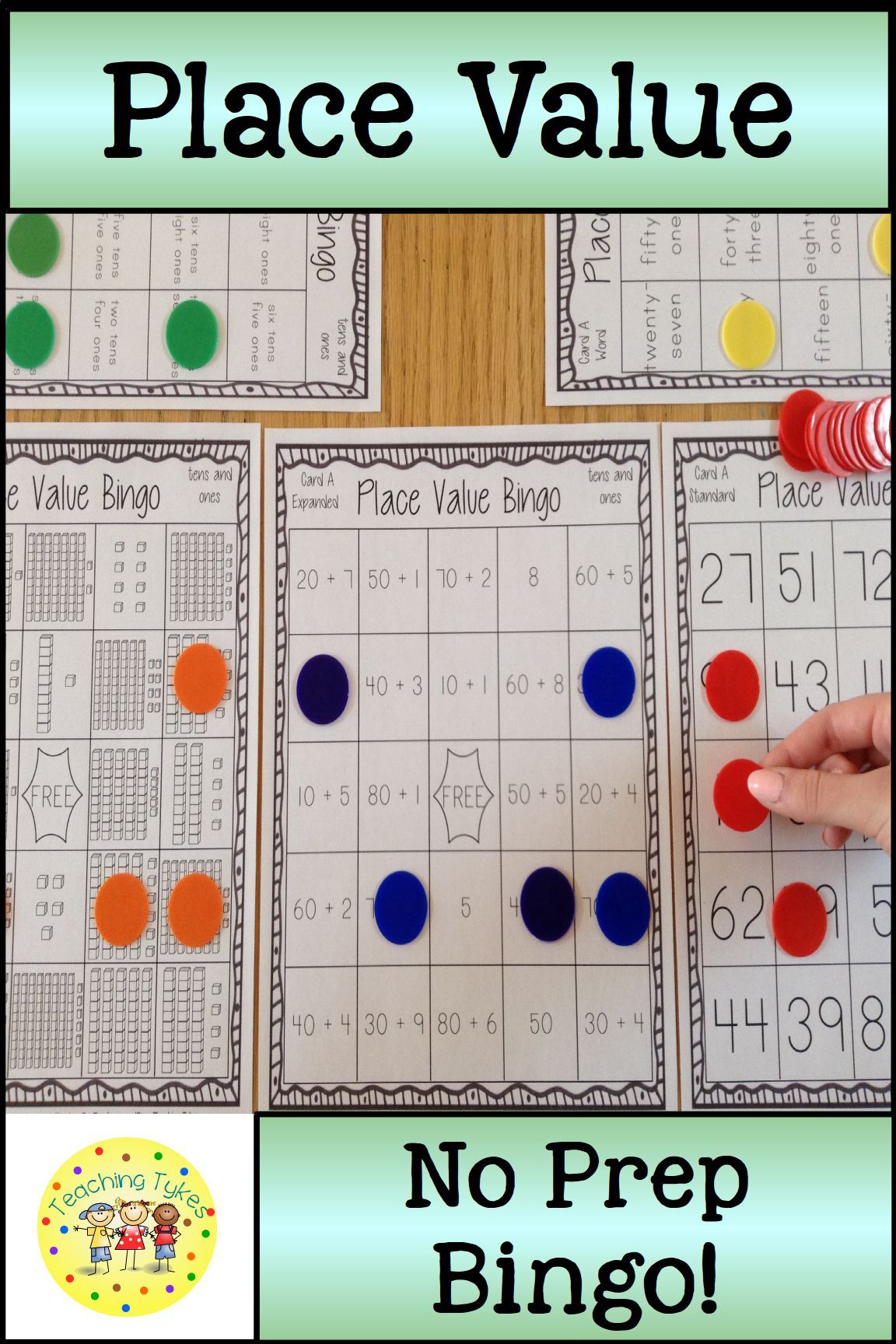 Place Value Bingo Tens And Ones | Tens, Ones, Math