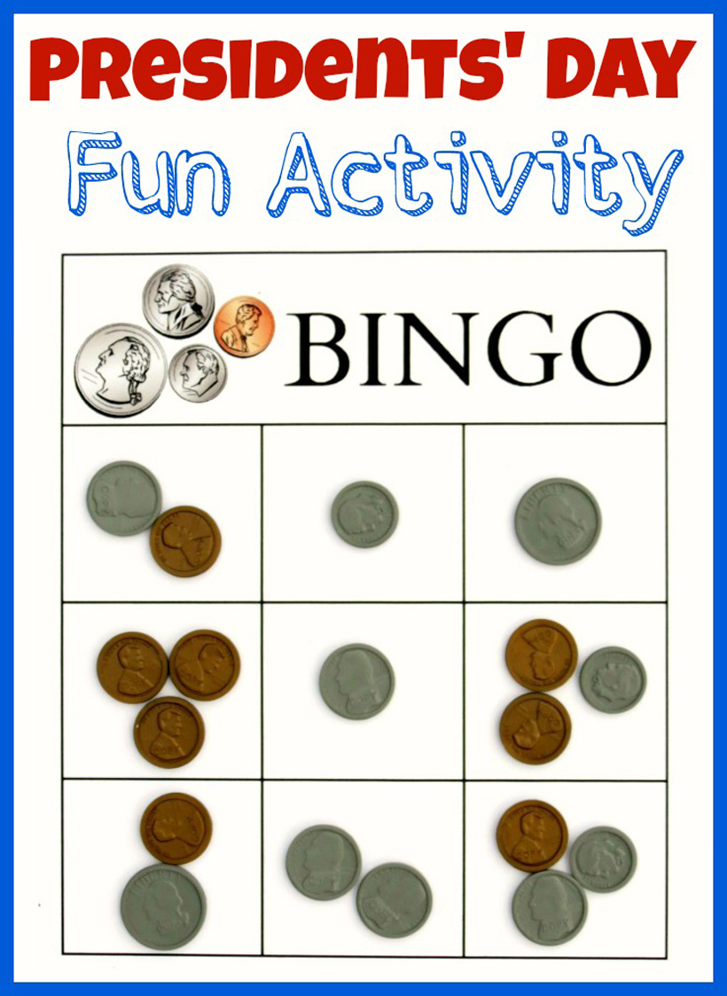 Presidents' Day Bingo Activity & Printable For Kids