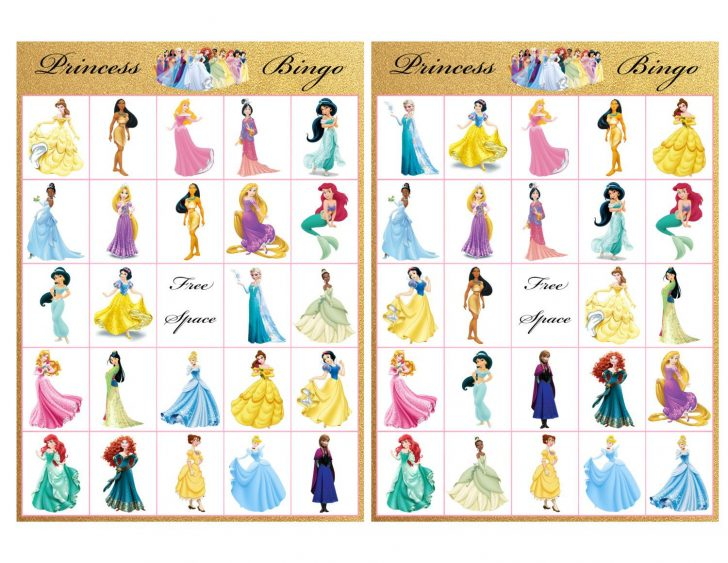 Free Printable Disney Princess Bingo Cards