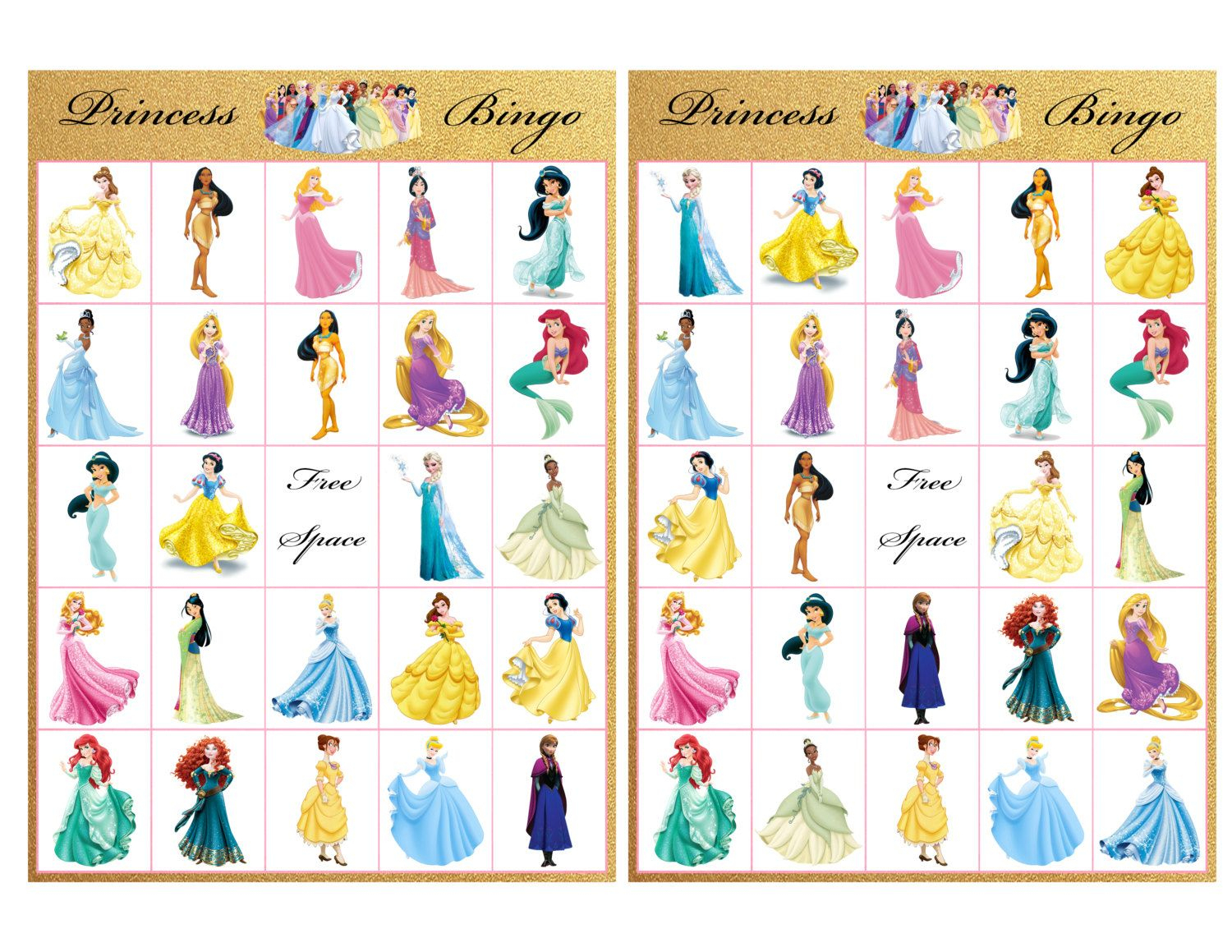 Princess Bingobackstitchmix On Etsy | Princess Bingo