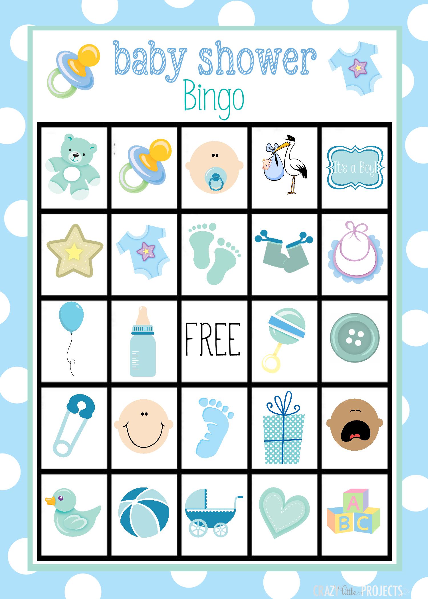 Printable Baby Shower Bingo Cards | Baby Shower Bingo, Free
