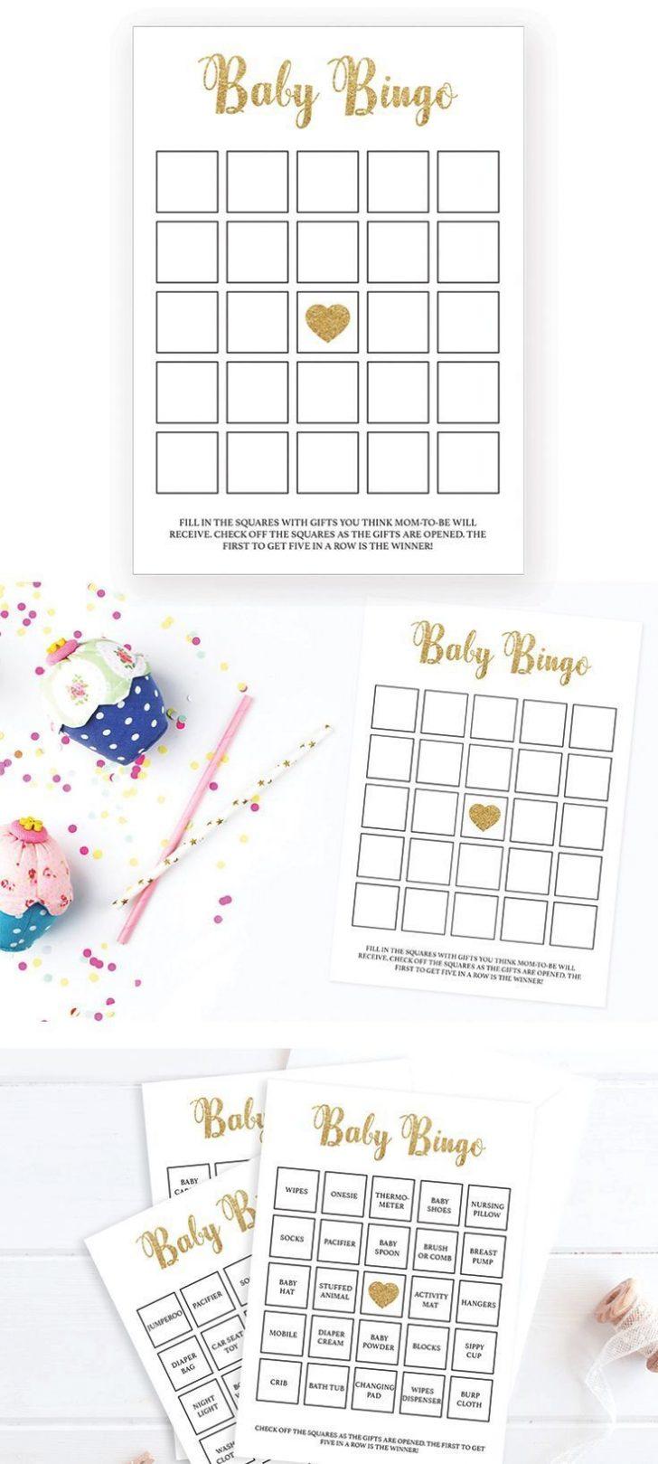 Printable Baby Bingo Cards