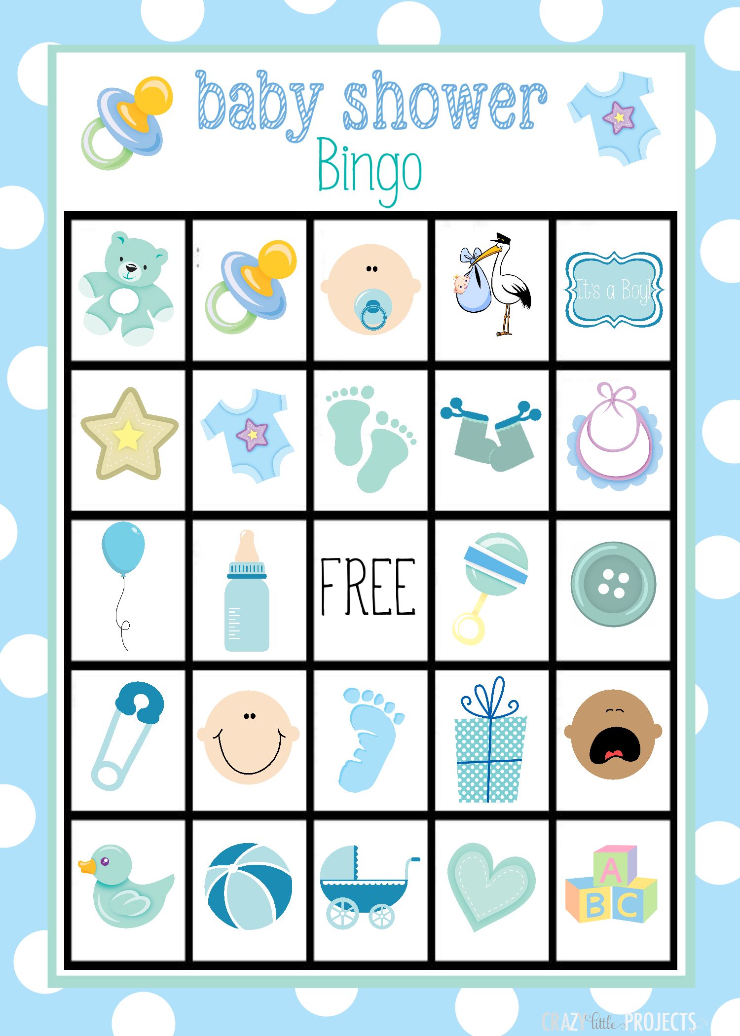 Printable Baby Shower Bingo Cards - Ideeën Voor Babyshowers