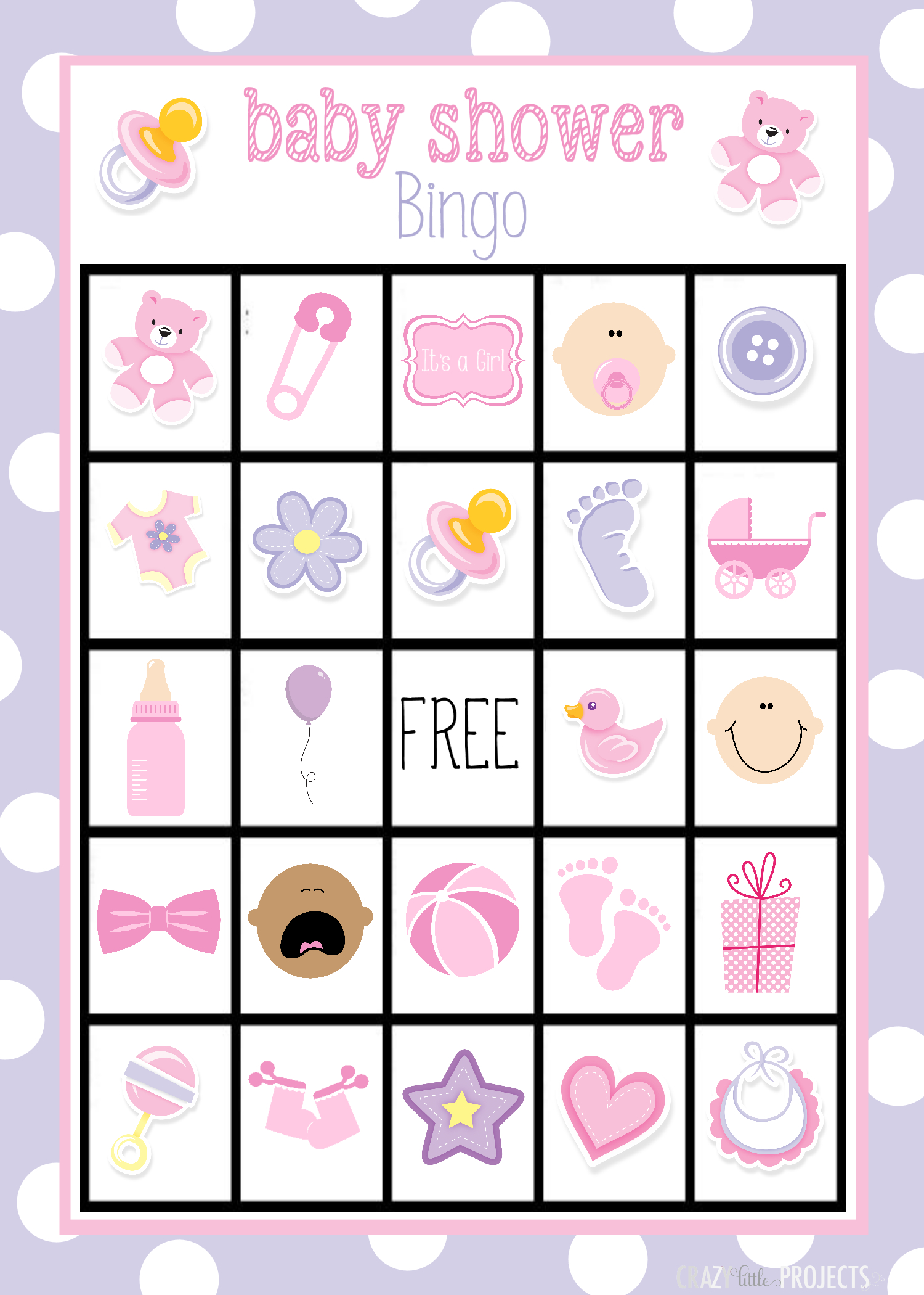 Printable Baby Shower Bingo Cards - Ideeën Voor Babyshowers