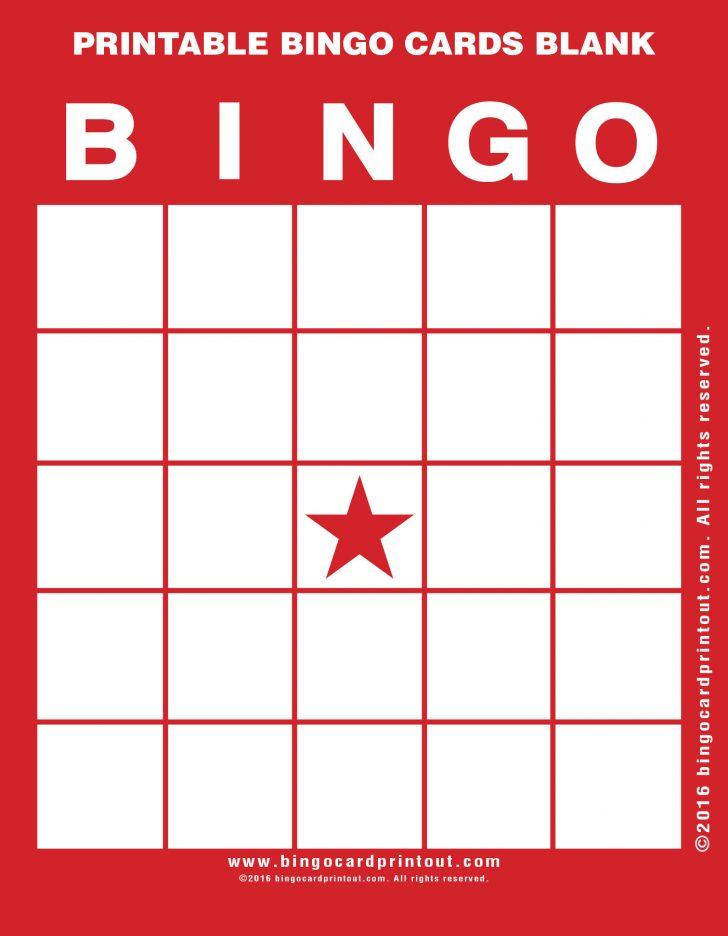 Printable Bingo Card Blank