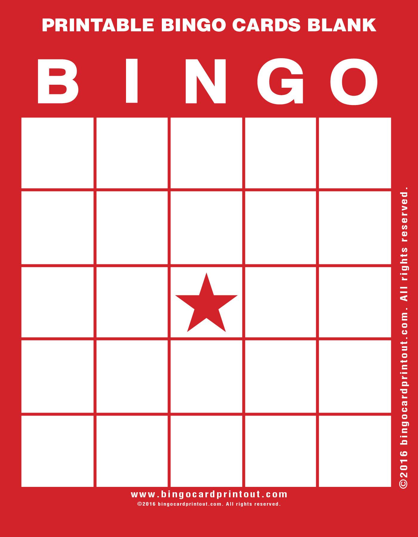Printable Bingo Cards Blank - Bingocardprintout