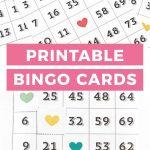 Printable Bingo Cards   Game Night Idea! | Bingo Cards