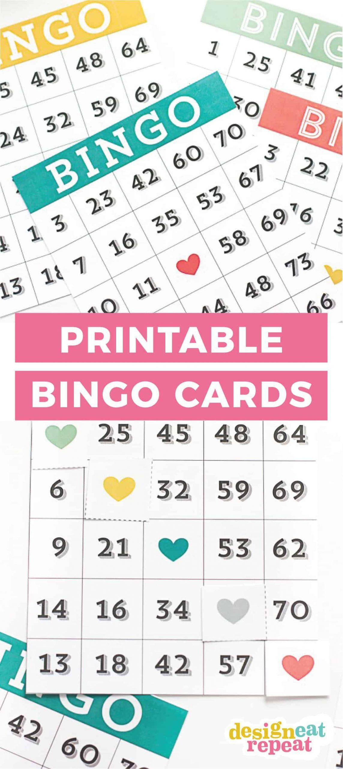 Printable Bingo Cards - Game Night Idea! | Bingo Cards