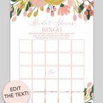 Printable Bridal Shower Bingo (Whimsical Botanical) | Bridal