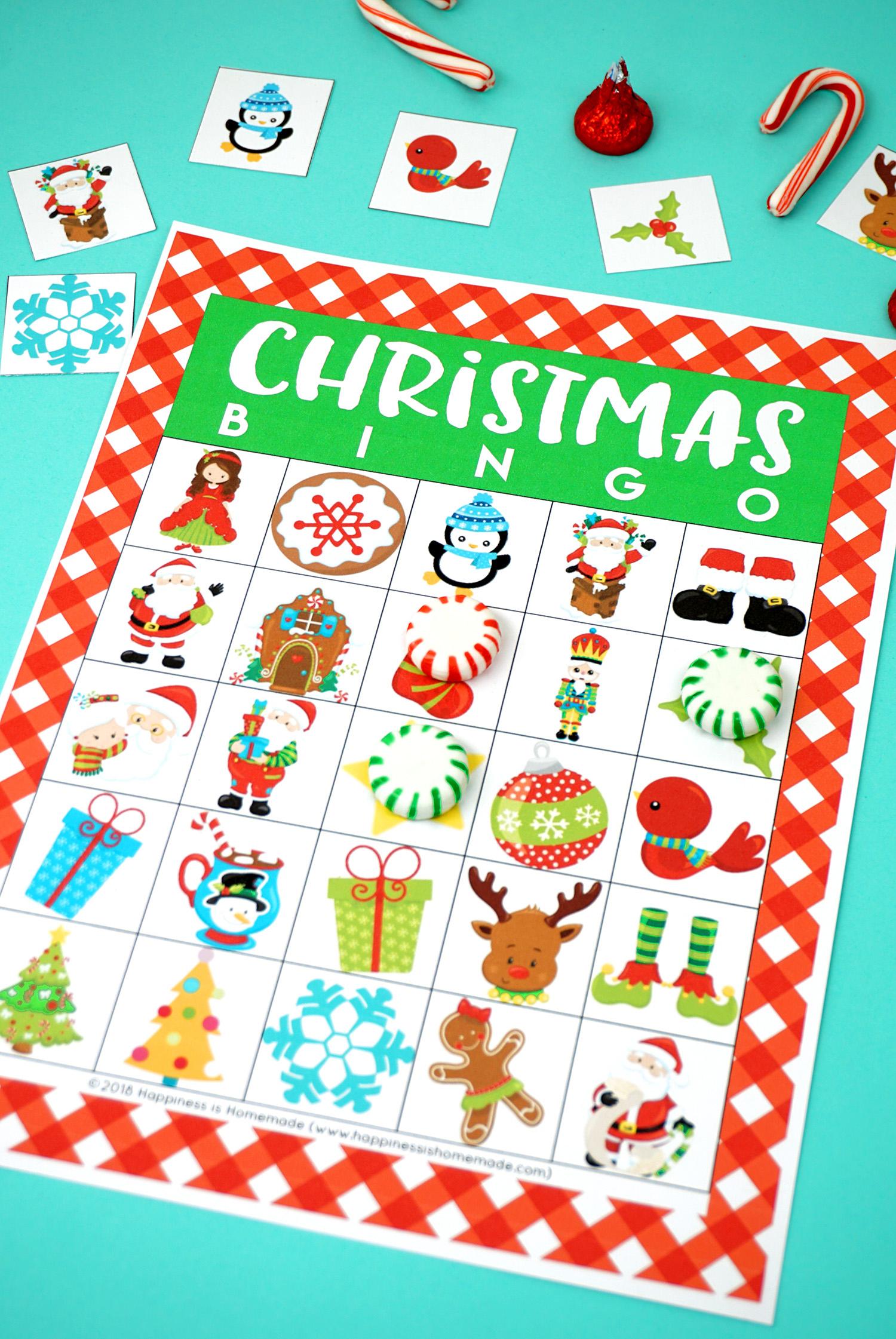 Printable Christmas Bingo Game - Happiness Is Homemade