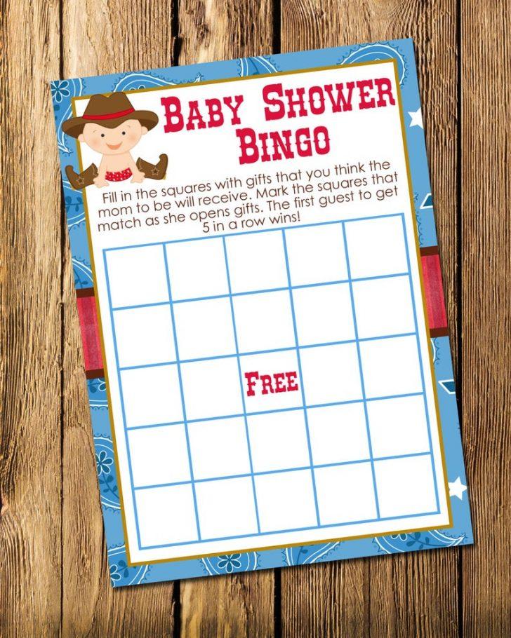 Cowboy Bingo Printable Cards
