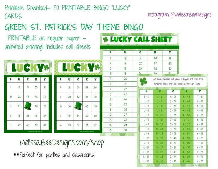 Printable Lucky Bingo Cards