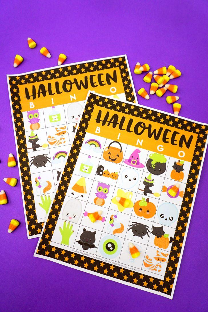Printable Halloween Bingo Cards For 20 Players