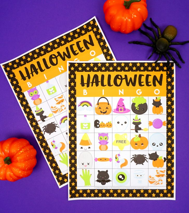 Printable Halloween Bingo Cards PDF