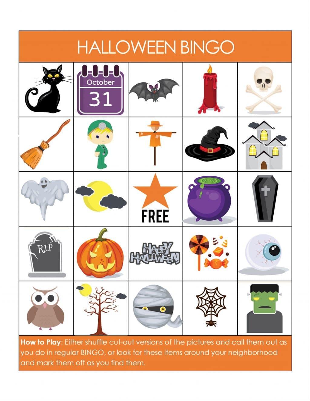 Printable Halloween Bingo Cards PDF | Printable Bingo Cards