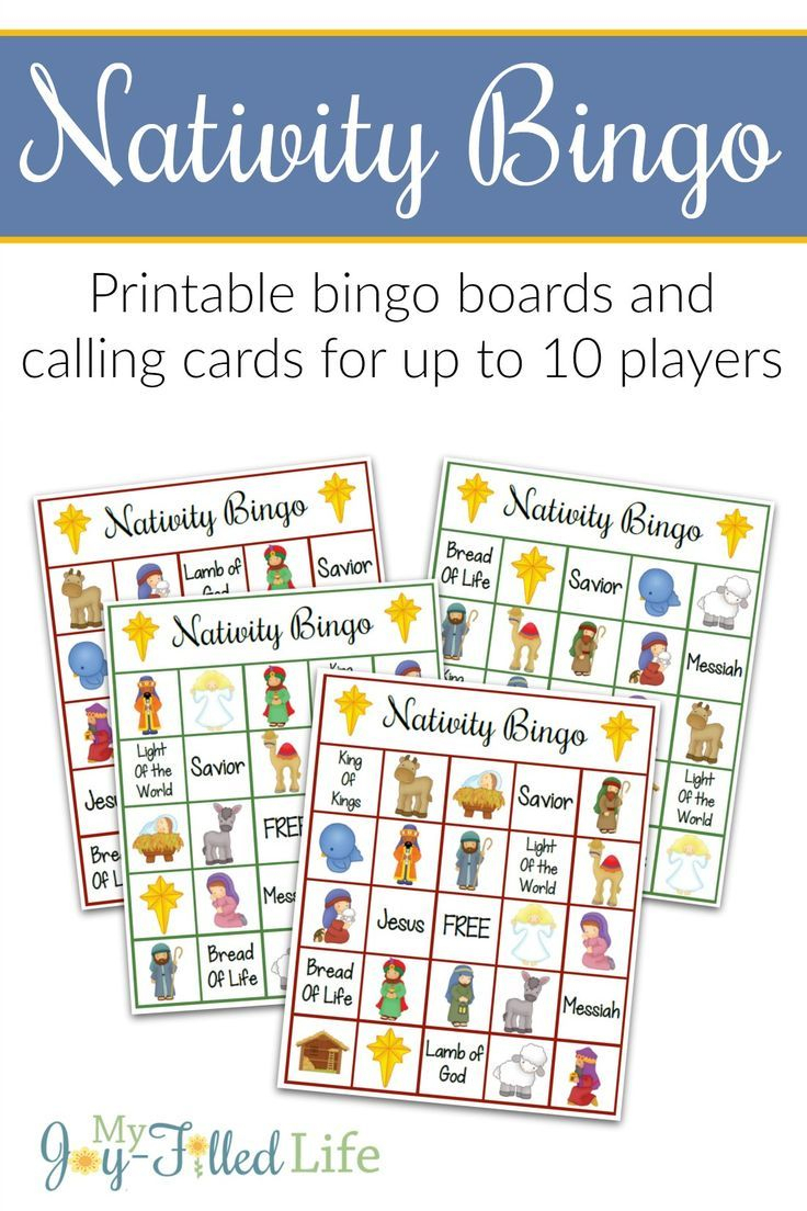Printable Nativity Bingo | Nativity Bingo, Christmas Bingo