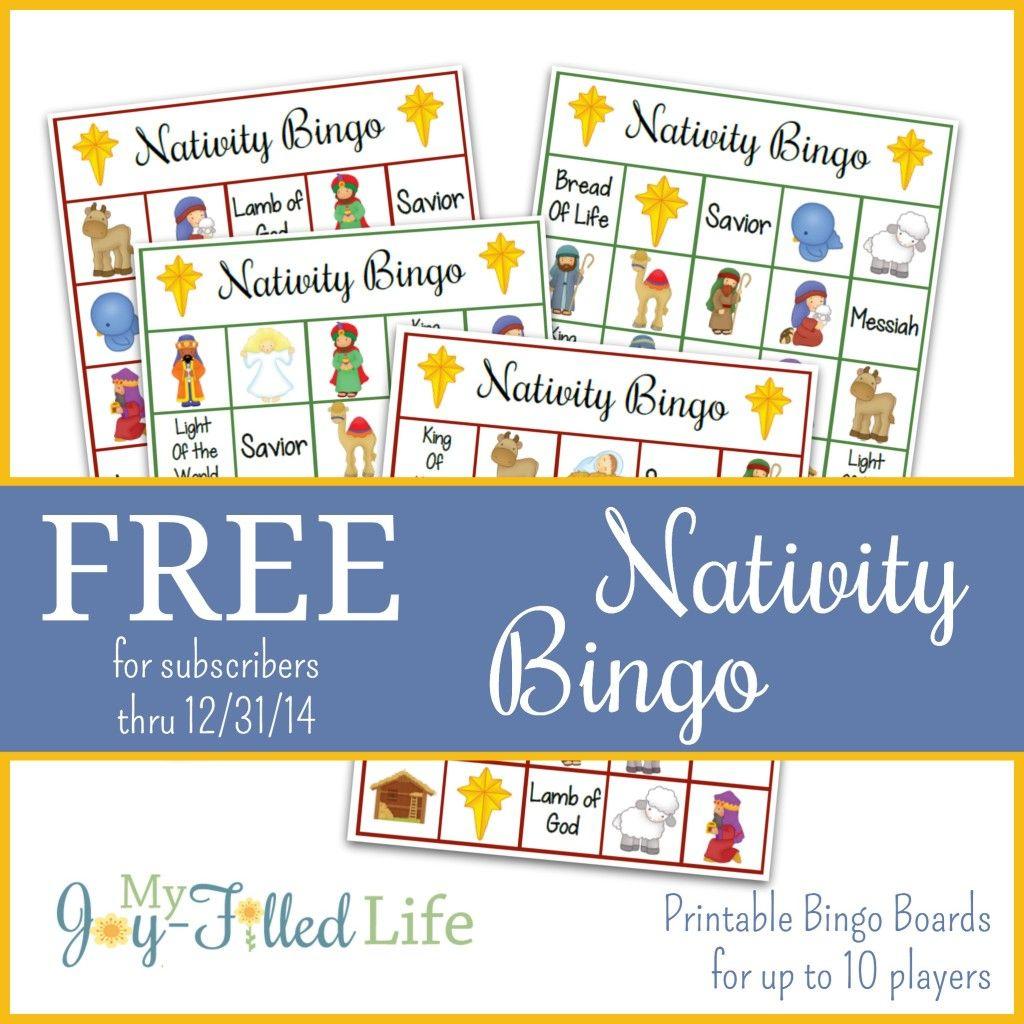 Printable Nativity Bingo | Nativity Bingo, Printable