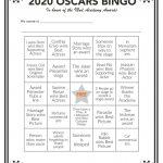 Printable Oscars Bingo