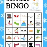 Printable Snowman Bingo Game | Snowman Party, School Holiday
