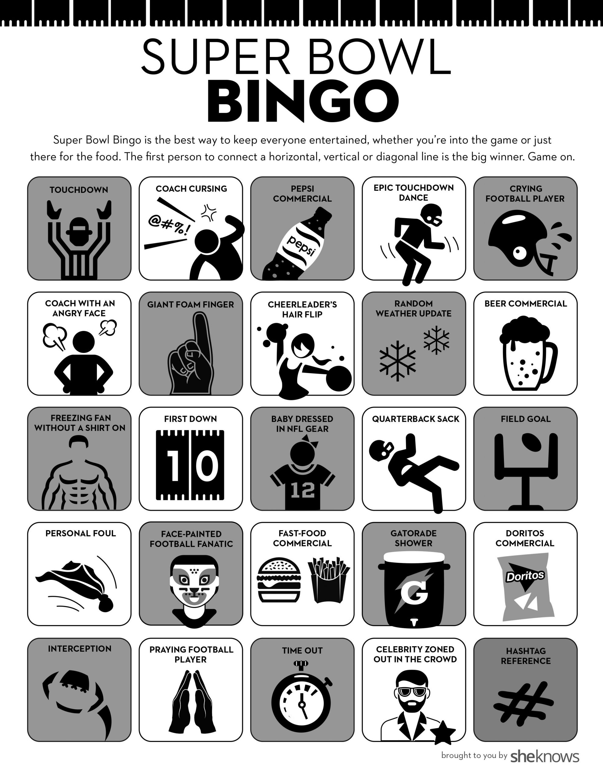Printable Super Bowl Bingo Cards Keep Everyone Interested