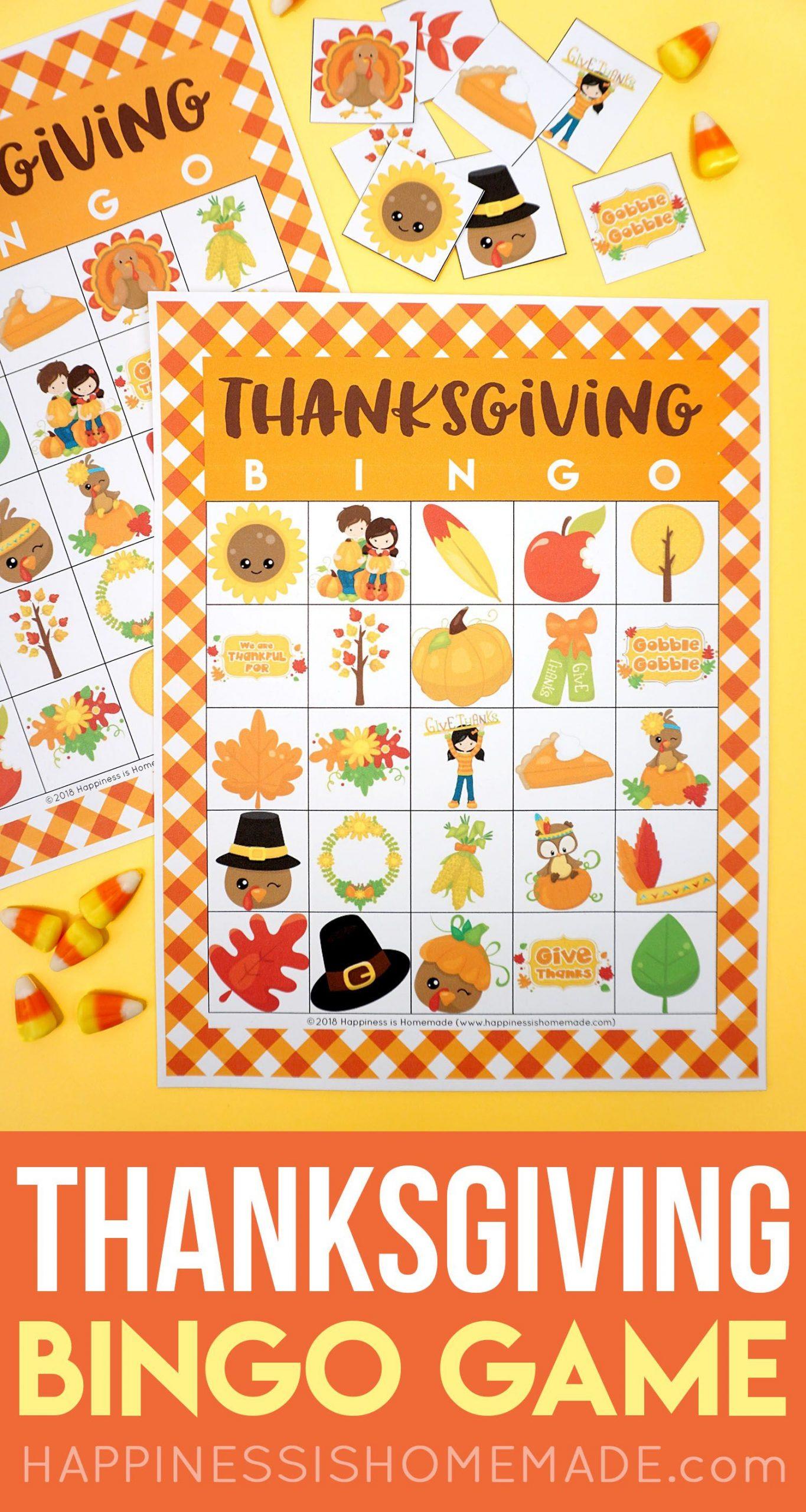 Printable Thanksgiving Bingo Cards - This Thanksgiving Bingo