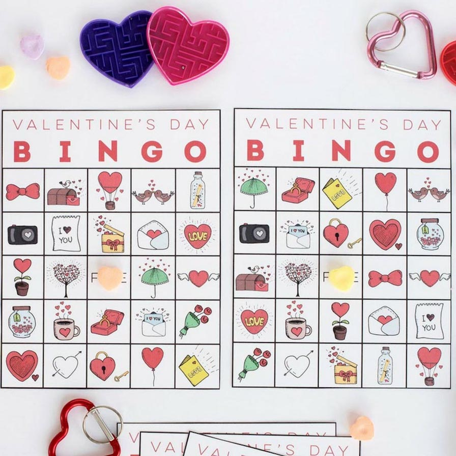 Free Printable Christian Bingo Cards For Valentine's Day ...