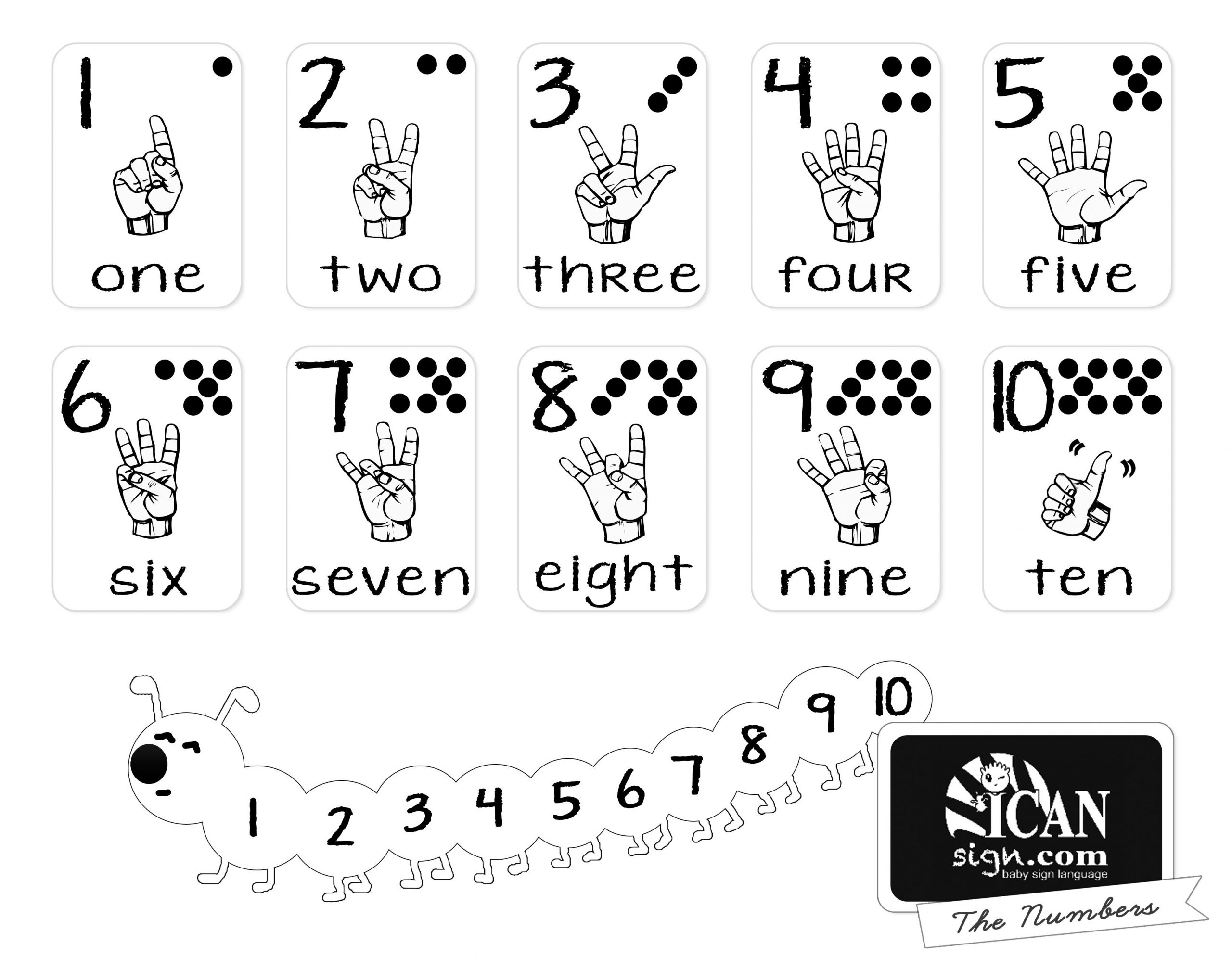 Printer-Friendly Asl Numbers Chart - Free Printable From