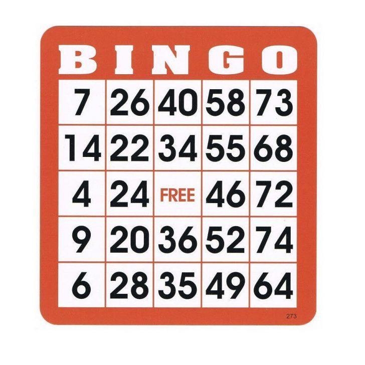 Large Printable Bingo Cards 1-90