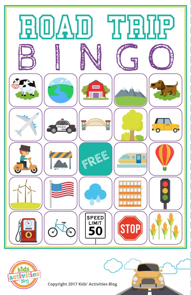 Car Bingo Cards Printable