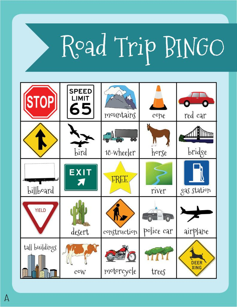 Road Trip-Keeping The Kids Happy | Road Trip Bingo, Road
