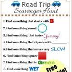 Road Trip Scavenger Hunt   Funny Scavenger Hunt Ideas | Road