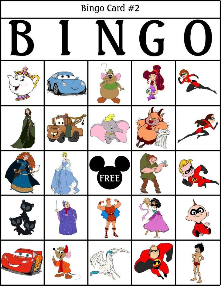 Printable Disney Princess Bingo Cards