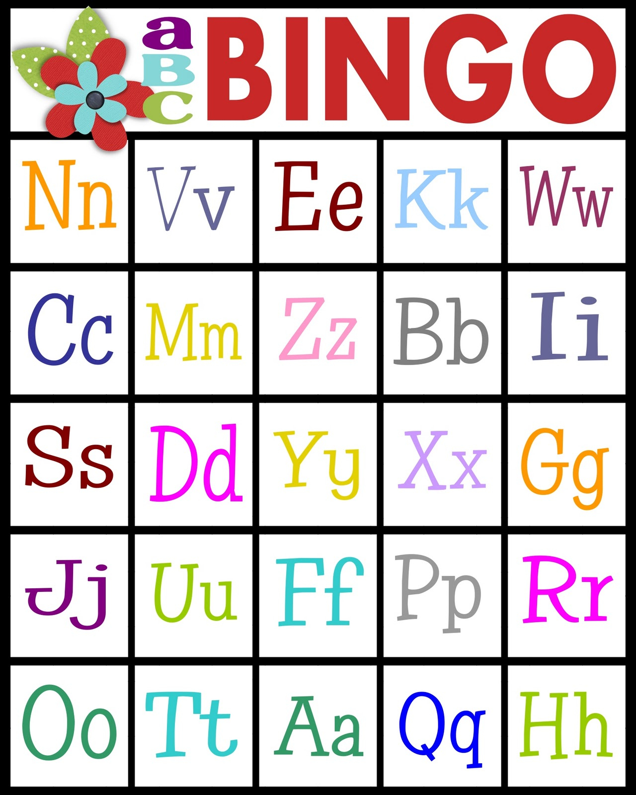 Sassy Sanctuary: Abc's Bingo- Free Printable!