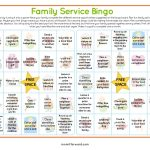 Service Bingo Card Printable | Bingo Cards, Kindness For