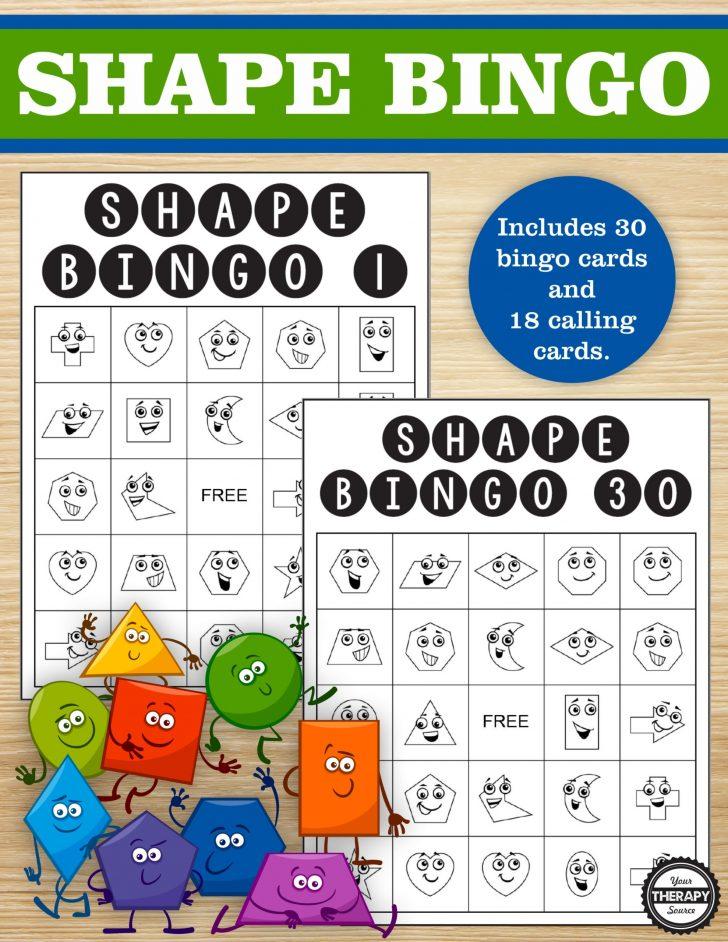 Shape Bingo Printable Cards