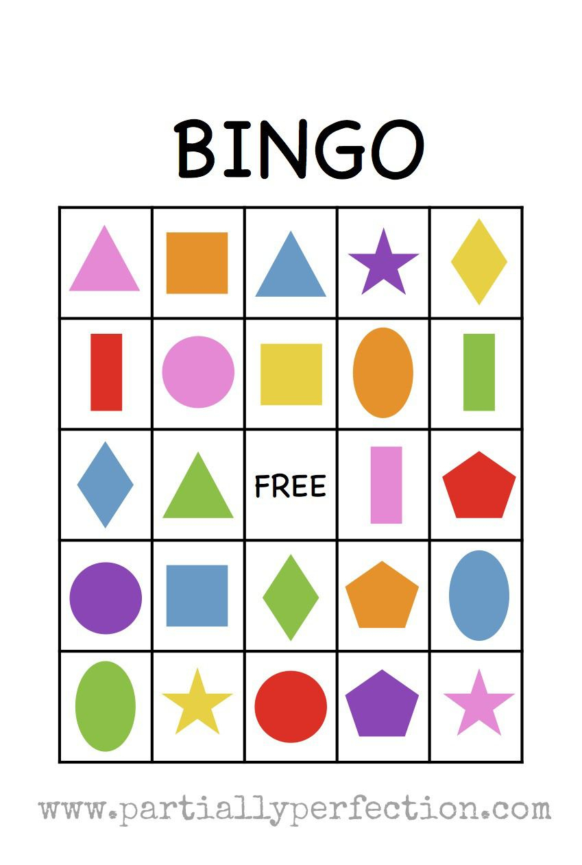 Shape Bingo Card - Free Printable - I'm Going To Use This To